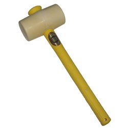 MALLET, WHITE RUBBER 1550G 3-1/4LB F/G HANDLE TH957WFG