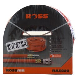 "AIR HOSE  3/8"" X 20M WITH NITTO FITTINGS RA3820"