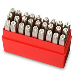 INDIVIDUAL PUNCH SET POSITIVE 12.5MM ALPHABET SET PRYPAS125