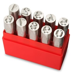 INDIVIDUAL PUNCH SET POSITIVE 12.5MM NUMBER SET PRYPNS125