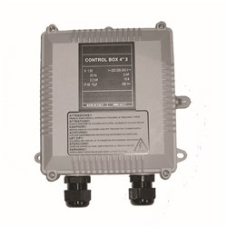 "CONTROL BOX, 4"" 0.75KW - 1HP 7A  25MF TES-CBOX075"