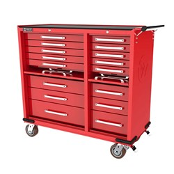 16 DRAWER ROLL CABINET with lockable drop fronts