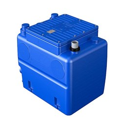 ZEN-BLUEBOXDGBLUE50M - PUMP COLLECTING STATION 250L WITH ZEN-DGBLUE50/2/G40VMG FITTED