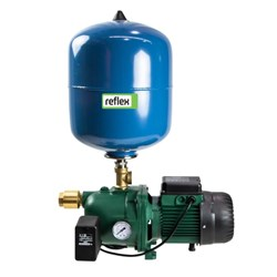 DAB-102MP - PUMP SURFACE MOUNTED JET WITH PRESSURE SWITCH 60L/MIN 53.8M 0.75KW 240V +8L PRESSURE TAN