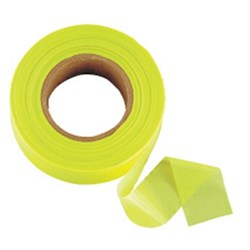 TAPE FLAGGING GLO LIME 5 MTR X 25MM JOH-3301-L