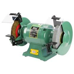 "ATBG600/8WBM - Abbott & Ashby 8"" Industrial Bench Grinder with Wire Wheel"