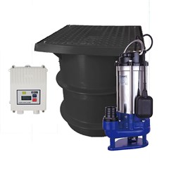 BIA-ICON250PSFB120GS2 - Sewage Pump Station Kit Includes Pump Tank & Alarm