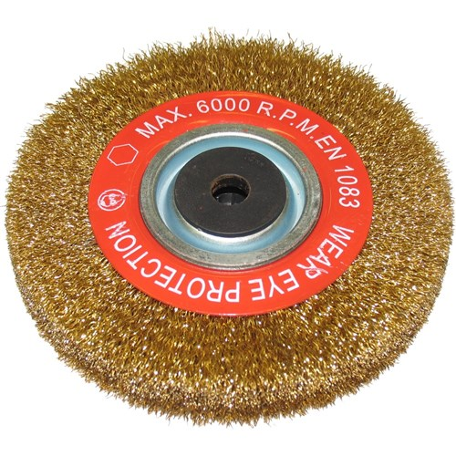 WHEEL WIRE CRIMPED 150 x 22MM, 12mm BORE