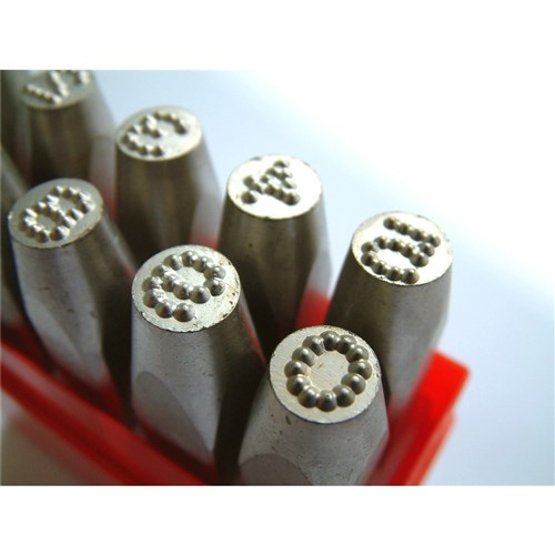 704349 - INDIVIDUAL PUNCH SET 8 0MM DOT STRESS NUMBER SET
