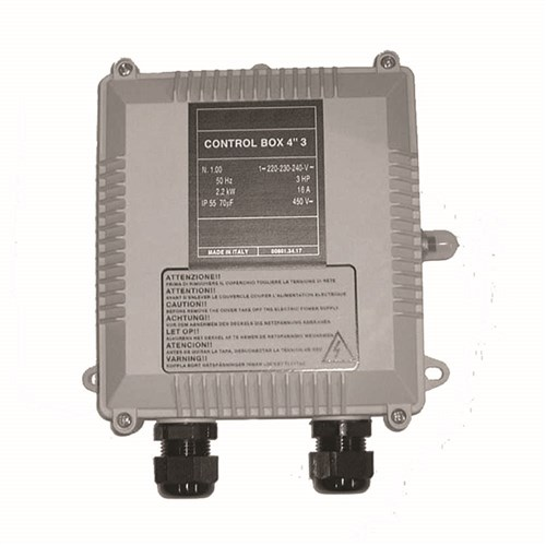"CONTROL BOX, 4"" 0.37KW - 0.5HP 4A 16MF TES-CBOX037"