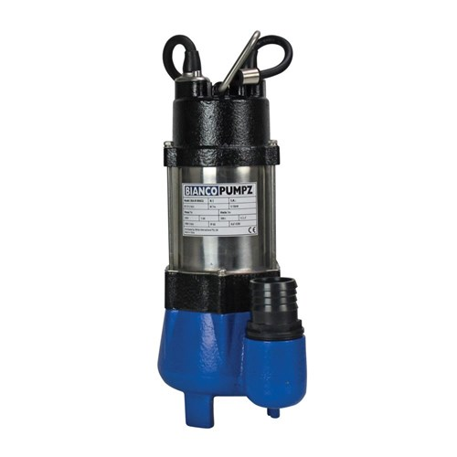 BIA-B18VAS2 CI SUBMERSIBLE VORTEX PUMP W FLOAT SWITCH, CLEAN WATER  15MM 133L/MIN 7M 180W 240V