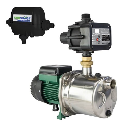 RS4E-JINOX82MPCI - PUMP CHANGEOVER RS4E SURFACE MOUNTED CLEAN WATER 60L/MIN 46M 600W 240V