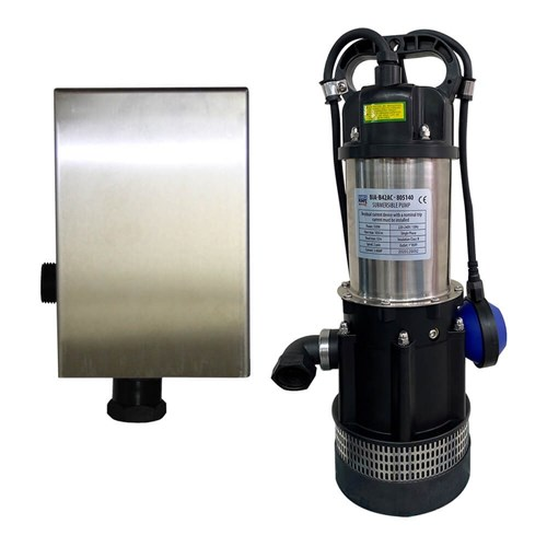 BIA-B42ACMPCX - PUMP SUBMERSIBLE CLEAN WATER WITH SK13BA AND WALL BRACKET 105L/MIN 32M 0.55kW