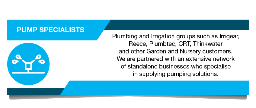 Pump Specialists - Plumbing and irrigation groups