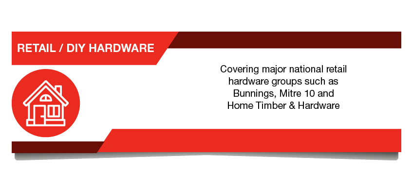 Retail DIY Hardware - National retail hardware chains such as Bunnings and Mitre 10